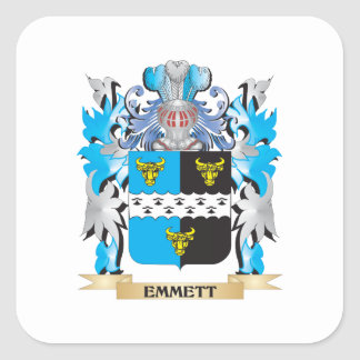 Emmett Coat of Arms - Family Crest Stickers
