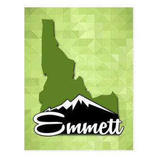 Emmett Idaho Idahoan Gem County Hometown Postcard