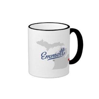 Emmett Michigan MI Shirt Ringer Mug