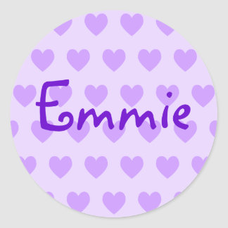 Emmie in Purple Classic Round Sticker