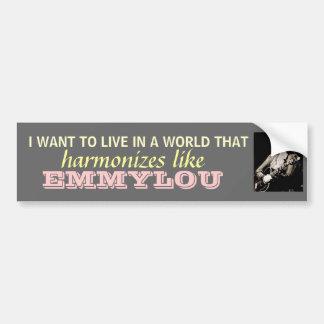 Emmylou Harris - Harmonize...bumpersticker Bumper Sticker