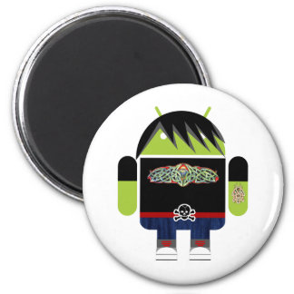 Emo Andy the Android 6 Cm Round Magnet