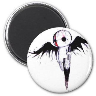 Emo Angel 6 Cm Round Magnet