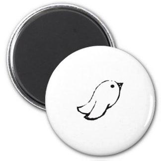 Emo Bird 6 Cm Round Magnet