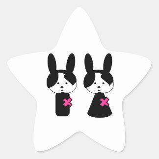 Emo Boy Emo Girl Star Sticker