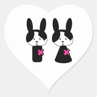 Emo Boy Emo Girl Heart Stickers