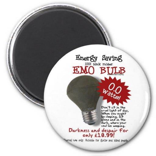 Emo Bulb Refrigerator Magnet