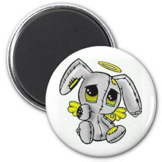 emo bunny 6 cm round magnet