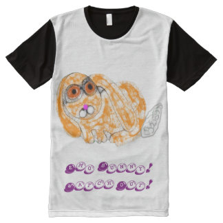 Emo Bunny All-Over Print T-Shirt