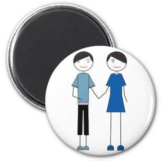 Emo Couple Fridge Magnet