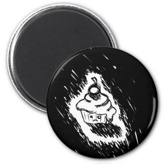 Emo cupcake 6 cm round magnet