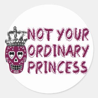 Emo /dark/tough/Princess Round Sticker