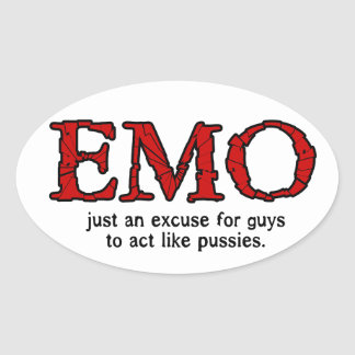Emo Excuse Oval Sticker