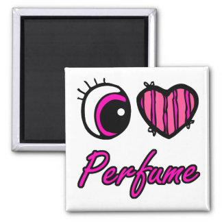 emo eye heart i heart perfume square magnet