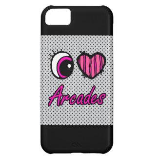 Emo Eye Heart I Love Arcades iPhone 5C Case