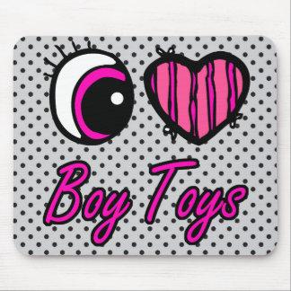 Emo Eye Heart I Love Boy Toys Mouse Pad