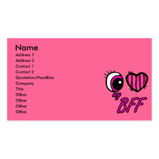 Emo Eye Heart I Love my BFF Best Friend Forever Pack Of Standard Business Cards