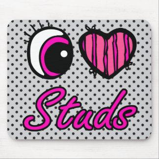 Emo Eye Heart I Love Studs Mouse Pad