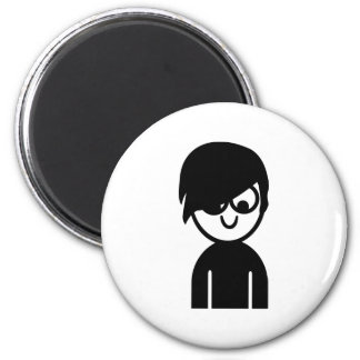 Emo face magnets