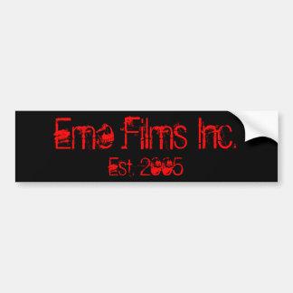 Emo Films Inc., Est. 2005 Bumper Sticker Car Bumper Sticker