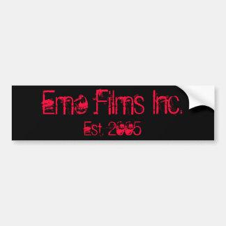Emo Films Inc., Est. 2005 Bumper Sticker PINK Car Bumper Sticker
