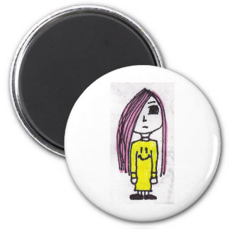 Emo Girl Refrigerator Magnet