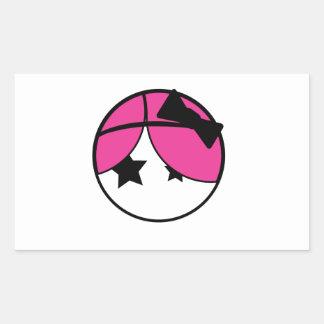 Emo Girl Rectangular Sticker