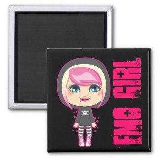Emo Girl Square Magnet