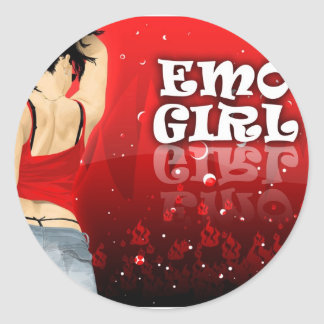 Emo Girl Stickers