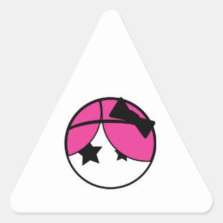 Emo Girl Triangle Stickers