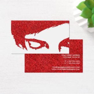 emo glitter business card