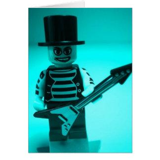 Emo Guitarist Custom Minifig by CustomizeMyMinifig Greeting Card