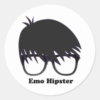 Emo Hipster Round Sticker