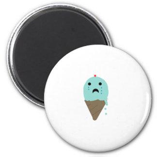 Emo Ice Cream 6 Cm Round Magnet