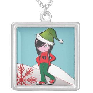 Emo Kid Christmas Pendant