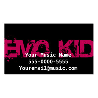 Emo Kid Graffiti Business Cards Business Cards