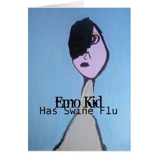 Emo Kid  Has Swine Flu -Get Well Soon Card