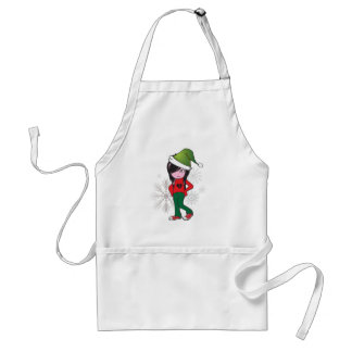 Emo Kid Holiday Gear Adult Apron