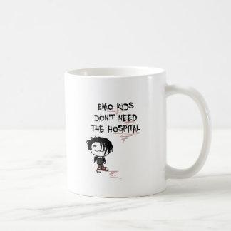 emo kids don't need the hospital mug