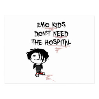 emo kids don't need the hospital postcards
