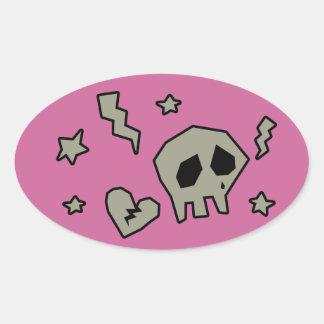 Emo-licious Oval Sticker