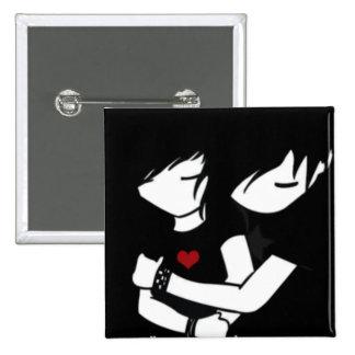 emo love 15 cm square badge