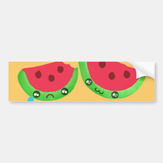 Emo Melon Bumper Sticker