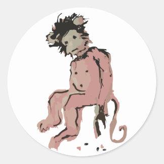 emo monkey ink stickers