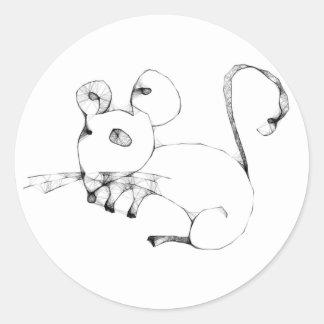Emo Mouse Round Sticker