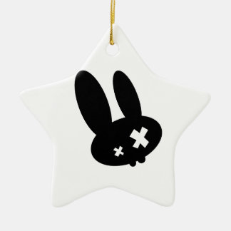 Emo Rabbit Christmas Ornaments