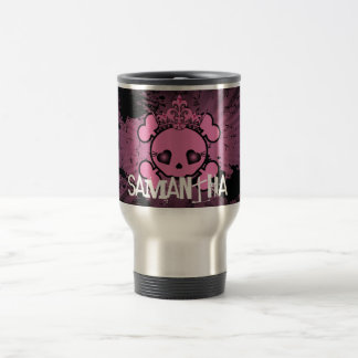 EMO Skull 15 oz. Stainless steel Travel Mug Cup