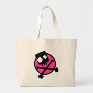 Emo Skull And Crossbones Canvas Bags