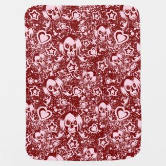 emo skull background baby blanket