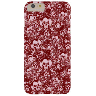 emo skull background barely there iPhone 6 plus case